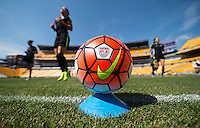 Pittsburg, PA - August 15, 2015:  The USWNT held an open training the day before their friendly against Costa Rica at Heinz Field.