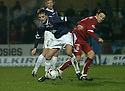12/01/2008    Copyright Pic: James Stewart.File Name : sct_jspa20_falkirk_v_aberdeen.FALKIRK NEW BOY KEVIN MCBRIDE GETS AWAY FROM BARRY NICHOLSON.James Stewart Photo Agency 19 Carronlea Drive, Falkirk. FK2 8DN      Vat Reg No. 607 6932 25.Office     : +44 (0)1324 570906     .Mobile   : +44 (0)7721 416997.Fax         : +44 (0)1324 570906.E-mail  :  jim@jspa.co.uk.If you require further information then contact Jim Stewart on any of the numbers above.........