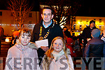 "Saoirse Purcell, Ava Mahony, prize winners of the ""Spirit of Christmas"" Art Competition in Listowel on Saturday last with mayor Jimmy Maloney."