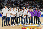 Real Madrid's Junior team during Turkish Airlines Euroleague match between Real Madrid and Darussafaka Dogus at Wizink Center in Madrid, Spain. February 24, 2017. (ALTERPHOTOS/BorjaB.Hojas)