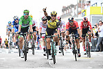 Dylan Groenewegen (NED) Team Jumbo-Visma wins the sprint finish of Stage 7 of the 2019 Tour de France running 230km from Belfort to Chalon-sur-Saone, France. 12th July 2019.<br /> Picture: ASO/Alex Broadway | Cyclefile<br /> All photos usage must carry mandatory copyright credit (© Cyclefile | ASO/Alex Broadway)