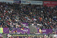 The eteach stand with adverts from Days Rental, Pro Gleam, Miles Hire and NPTC during the Premier League match between Swansea City and Huddersfield Town at The Liberty Stadium, Swansea, Wales, UK. Saturday 16 October 2017