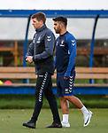 26.10.18 Rangers training: Steven Gerrard and Daniel Candeias