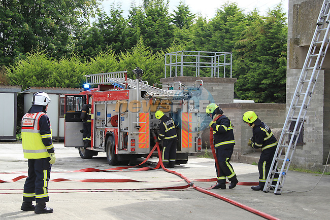 The passing out of the 2012 Louth County Council Fire service recruit course at Dundalk Fire Station..Picture: Fran Caffrey / www.newsfile.ie