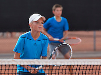 August 9, 2014, Netherlands, Rotterdam, TV Victoria, Tennis, National Junior Championships, NJK, Boys 12 years final: Frank Jonker and Thijmen Loof (NED) <br /> Photo: Tennisimages/Henk Koster