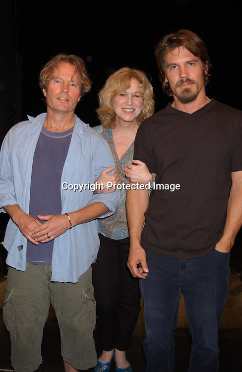 "John Savage, Mary Kay Place and Josh Brolin                               ..at a performance of ""The Exonerated "" at the 45 Bleecker..Theatre in New York City on August 8,2003. Photo by ..Robin Platzer, Twin Images.."