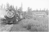 D&amp;RGW #484 with San Juan halted at Sublette.<br /> D&amp;RGW  Sublette, NM  Taken by Richardson, Robert W. - 7/22/1949