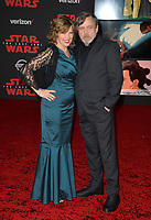 Mark Hamill &amp; Marilou York at the world premiere for &quot;Star Wars: The Last Jedi&quot; at the Shrine Auditorium. Los Angeles, USA 09 December  2017<br /> Picture: Paul Smith/Featureflash/SilverHub 0208 004 5359 sales@silverhubmedia.com