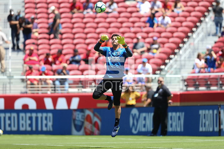 Santa Clara, CA - Sunday July 22, 2018: JT Marcinkowski during a friendly match between the San Jose Earthquakes and Manchester United FC at Levi's Stadium.