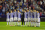 Real Sociedad's players during the tribute to the victims of the earthquake in Mexico during La Liga match. September 21,2017. (ALTERPHOTOS/Acero)