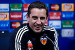 Gary Neville head coach of Valencia at a press conference - UEFA Champions League -  Official pre match Training Session and press conference - Valencia CF vs Lyon  - Paterna Training Ground - Valencia - Spain - 8th December 2015 - Pic David Aliaga/Sportimage
