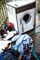 Remains of a tumble dryer that caught alight and burnt out..©shoutpictures.com..john@shoutpictures.com