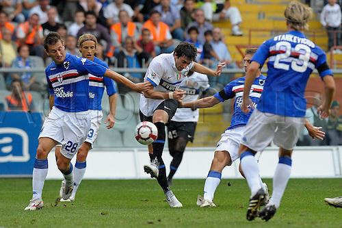 2009 Serie A match between Sampdoria vs Inter - 26/09/2009, Sampdoria won 1-0 at the Stadio Luigi Ferraris, Genoa, Italy..In this photo : Diego Milito..Photo by filippo alfero/actionplus. UK Editorial Licenses Only