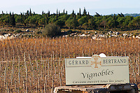 Domaine Gerard Bertrand, Chateau l'Hospitalet. La Clape. Languedoc. The vineyard. France. Europe.