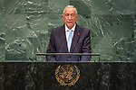 DSG meeting<br /> <br /> AM Plenary General DebateHis<br /> <br /> His Excellency Marcelo REBELO DE SOUSA President of the Portuguese Republic