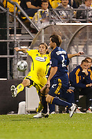 26 SEPTEMBAR 2009:  #2 Frankie Hejduk, Columbus Crew defender and #2 Todd Dunivant of the LA Galaxy during the Los Angeles Galaxy at Columbus Crew MLS game in Columbus, Ohio on May 27, 2009.