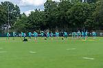 28.07.2020, Trainingsgelaende am wohninvest WESERSTADION,, Bremen, GER, 1.FBL, Werder Bremen Training U23, im Bild<br /> <br /> <br /> Aufwaermtraining U23<br /> <br /> <br /> Foto © nordphoto / Kokenge