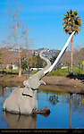 Columbian Mammoth Female, Howard Ball 1967, La Brea Tar Pit, Hancock Park, Los Angeles, California