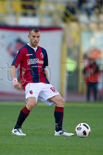 Riccardo Meggiorini (Bologna), MARCH 6, 2011 - Football : Italian  Series A  match between Bologna 2-2 Cagliari at Renato Dall'Ara Stadium in Bologna, Italy.