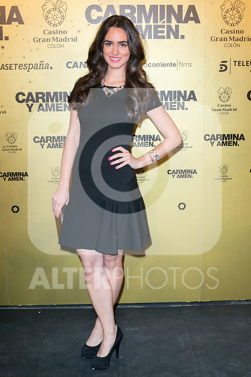 "Spanish Actress Alicia Sanz attend the Premiere of the movie ""Carmina y Amen"" at the Callao Cinema in Madrid, Spain. April 28, 2014. (ALTERPHOTOS/Carlos Dafonte)"