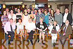 Twins Nora Duggan, Deerpark Cresent and Margaret Moore, Arbutus Grove seated centre who celebrated their 50th birthday's with their family and friends in the International Hotel Killarney on Friday night..