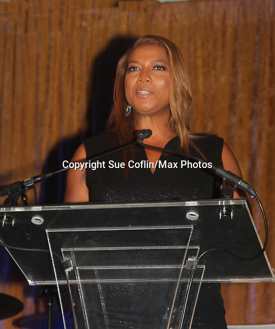 Queen Latifah is honored  at the 7th Annual Spirit of the Heart Awards - Dinner for the Association of Black Cardiologists on October 1, 2016 at Cipriani 42nd Street, New York City, New York. (Photo by Sue Coflin/Max Photos)