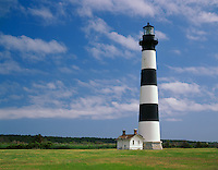 Cape Hatteras National Seashore,NC: <br /> Bodie Island Lighthouse (1872) on the Outer Banks of North Carolina