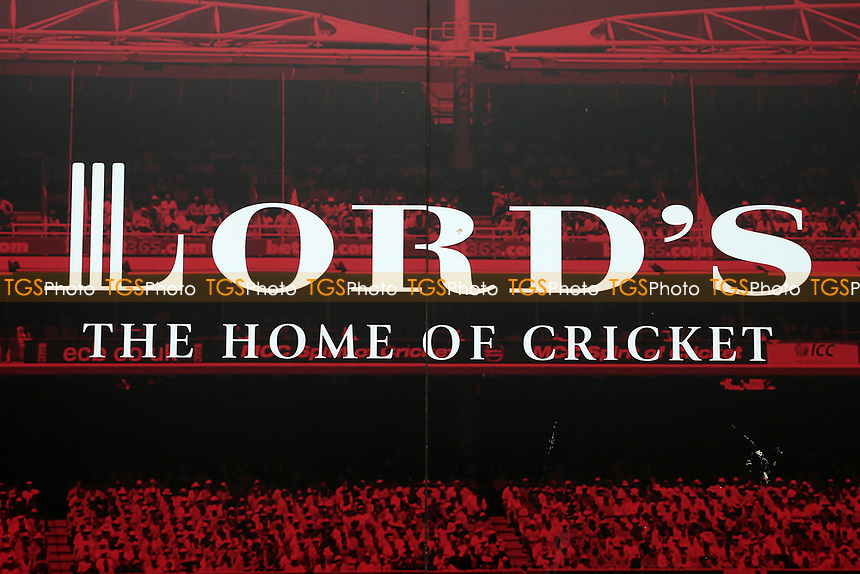 Lord's, The Home of Cricket signage ahead of Middlesex CCC vs Essex CCC, Specsavers County Championship Division 1 Cricket at Lord's Cricket Ground on 23rd April 2017
