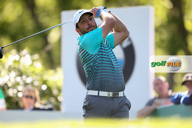 Francesco Molinari (ITA) the leader during Round One of the 2015 BMW PGA Championship over the West Course at Wentworth, Virginia Water, London. 21/05/2015Picture David Lloyd, www.golffile.ie.