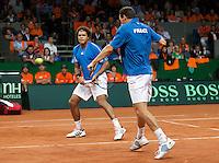19-9-09, Netherlands,  Maastricht, Tennis, Daviscup Netherlands-France, Dubbles  Tsonga en Llodra(r)