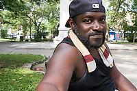 James Bolden is seen here in Vernon Park in East Germantown, Philadelphia, Pennsylvania, on Tues., July 26, 2016.