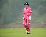 Seung Hyun Lee of South Korea putts at the 18th hole during Round 4 of the World Ladies Championship 2016 on 13 March 2016 at Mission Hills Olazabal Golf Course in Dongguan, China. Photo by Victor Fraile / Power Sport Images