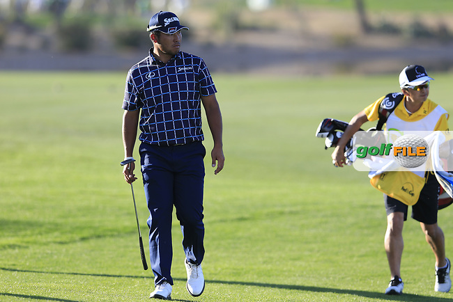 Hideki Matsuyama (JPN) on the 15th fairway during the 1st round of the Waste Management Phoenix Open, TPC Scottsdale, Scottsdale, Arisona, USA. 31/01/2019.<br /> Picture Fran Caffrey / Golffile.ie<br /> <br /> All photo usage must carry mandatory copyright credit (© Golffile | Fran Caffrey)