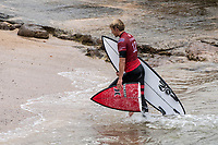 MARGARET RIVER, Western Australia/AUS (Friday, April 13, 2018) John John Florence (HAW) - After back-to-back lay days, the opening of the Margaret River Pro did not disappoint today as the world&rsquo;s best surfers took on heavy six-to-eight foot (1.8 - 2.7 metre) conditions at North Point. North Point, the backup event site known for some of the longest and most intense barrels in the world, challenged the surfers in the first seven heats of men&rsquo;s Round 1 at Stop No. 3 on the World Surf League (WSL) Championship Tour. <br /> <br /> Reigning, two-time WSL Champion John John Florence (HAW) found redemption in his opening heat, overcoming wildcard Mikey Wright (AUS), who famously eliminated him in last place at Stop No. 1 on the Gold Coast earlier this year. It was bound to be a monumental heat as the reigning Margaret River Pro event winner needed to regain his footing against Wright and 2018 CT Rookie Wade Carmichael (AUS). All three competitors found incredible waves, but it was Florence whose finesse and timing in the tube saw him take the win with a 14.60 heat total (out of a possible 20).  <br />  Photo: joliphotos.com