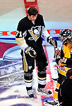 24 January 2009: Pittsburgh Penguins' center Evgeni Malkin is awarded the prize for most accurate shot in the NHL SuperSkills Competition, part of the All-Star Weekend at the Bell Centre in Montreal, Quebec, Canada. ***** Editorial Sales Only ***** Mandatory Photo Credit: Ed Wolfstein Photo