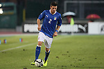 Riccardo Fiamozzi in action during the Four Nations football match tournament Italy vs Germany at Rovereto, on November 14, 2013.  <br /> <br /> Pierre Teyssot
