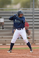 Seattle Mariners third baseman Nolan Perez (96) during a Minor League Spring Training game against the San Diego Padres at Peoria Sports Complex on March 24, 2018 in Peoria, Arizona. (Zachary Lucy/Four Seam Images)