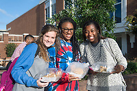 Students at the Student Association pancake breakfast.<br />  (photo by Beth Wynn / &copy; Mississippi State University)