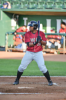 Alexis Rivera (26) of the Idaho Falls Chukars at bat against the Ogden Raptors in Pioneer League action at Lindquist Field on June 22, 2015 in Ogden, Utah.The Chukars defeated the Raptors 4-3 in 11 innings.  (Stephen Smith/Four Seam Images)