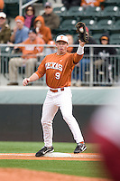 Tant Shepard of the Texas Lonhorns against the Stanford Cardinal at  UFCU Disch-Falk Field in Austin, Texas on Friday February 26th, 2100.  (Photo by Andrew Woolley / Four Seam Images)