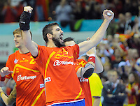 23.01.2013 World Championshio Handball. Match between Spain vs Germay at the stadium Principe Felipe. The picture show  Jorge Maqueda Pena (Right Back of Spain).