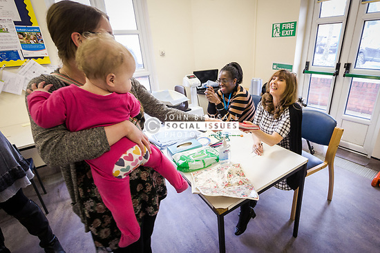 Post natal baby clinic, London Borough of Enfield, UK. Unit part of Barnet, Enfield & Haringey Mental Health Trust (BEHMHT)