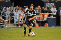 Kansas City, KS - Wednesday July 23, 2014: Manchester City defeated Sporting Kansas City 4-1 in the Champions Shield at Sporting Park.