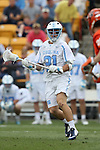 29 April 2016: North Carolina's Michael Tagliaferri. The University of North Carolina Tar Heels played the Syracuse University Orange at Fifth Third Bank Stadium in Kennesaw, Georgia in a 2016 Atlantic Coast Conference Men's Lacrosse Tournament semifinal match.