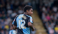 Goal scorer Jason Banton of Wycombe Wanderers during the Sky Bet League 2 match between Wycombe Wanderers and Plymouth Argyle at Adams Park, High Wycombe, England on 12 September 2015. Photo by Andy Rowland.