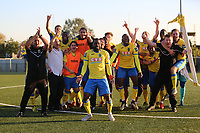 Haringey players and staff celebrate their victory during Haringey Borough vs Poole Town, Emirates FA Cup Football at Coles Park Stadium on 20th October 2018