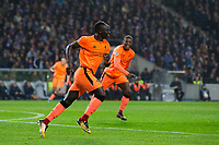 Liverpool's Sadio Mane celebrates scoring the opening goal <br /> <br /> Photographer Craig Mercer/CameraSport<br /> <br /> UEFA Champions League Round of 16 First Leg - FC Porto v Liverpool - Wednesday 14th February 201 - Estadio do Dragao - Porto<br />  <br /> World Copyright &copy; 2018 CameraSport. All rights reserved. 43 Linden Ave. Countesthorpe. Leicester. England. LE8 5PG - Tel: +44 (0) 116 277 4147 - admin@camerasport.com - www.camerasport.com
