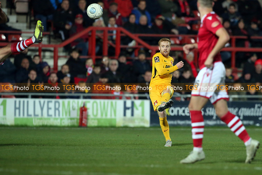 O's James Brophy scores O's 2nd goal during Wrexham vs Leyton Orient, Vanarama National League Football at the Racecourse Ground on 24th November 2018