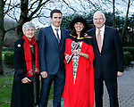 REPRO FREE<br /> 21/01/2015<br /> Triona McCaffrey, Castletroy, Limerick, MA Music Therapy Irish World Academy of Music and Dance at the University of Limerick pictured with Husband Mark Jeffers and Parents Marie and Frank McCaffrey as the University of Limerick continues three days of Winter conferring ceremonies which will see 1831 students conferring, including 74 PhDs. <br /> UL President, Professor Don Barry highlighted the increasing growth in demand for UL graduates by employers and the institution&rsquo;s position as Sunday Times University of the Year. <br /> Picture: Don Moloney / Press 22