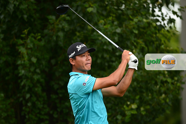 Ashun Wu of China during Round 3 of the Lyoness Open, Diamond Country Club, Atzenbrugg, Austria. 11/06/2016<br /> Picture: Richard Martin-Roberts / Golffile<br /> <br /> All photos usage must carry mandatory copyright credit (&copy; Golffile | Richard Martin- Roberts)